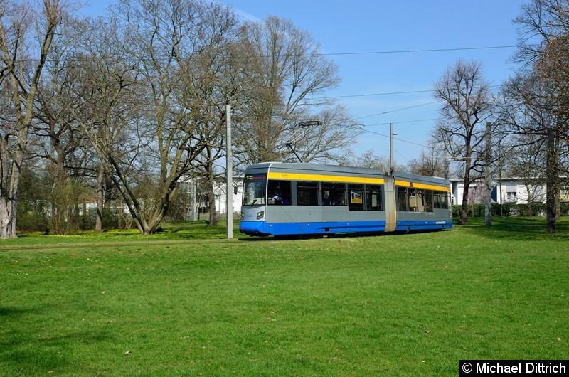 1326 als Linie 2 in der Wendeschleife Naunhofer Str.