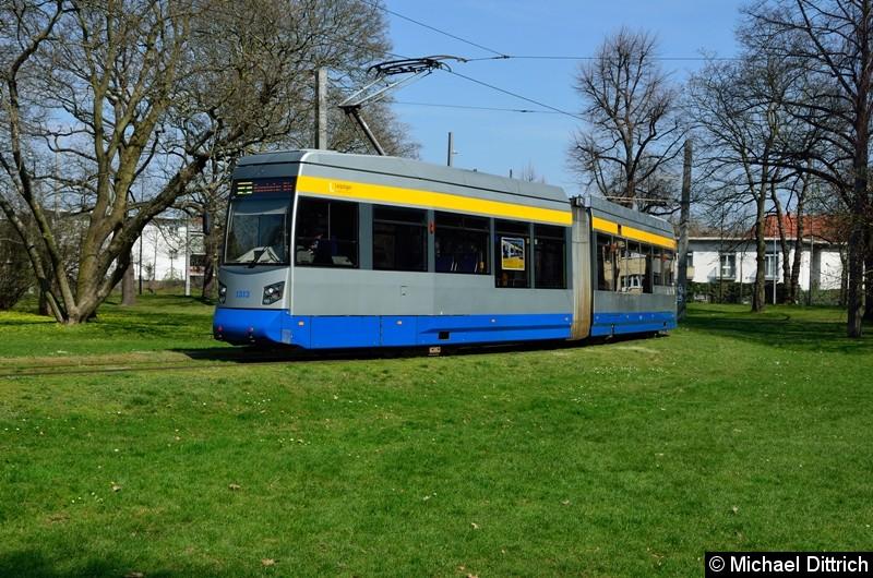 1313 als Linie 2 in der Wendeschleife Naunhofer Str.