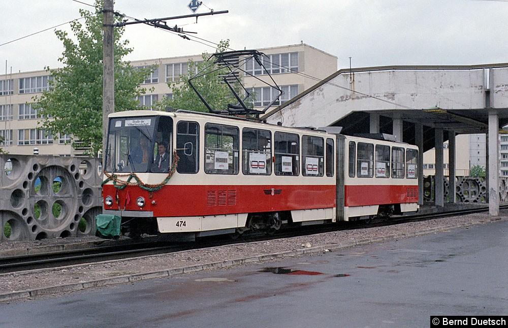 Korso-Tw 474 wurde in der Essener Straße abgelichtet.