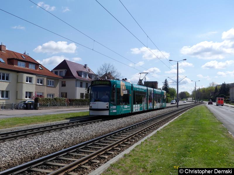 TW 636 als Linie 2 auf der Kranichfelder Straße