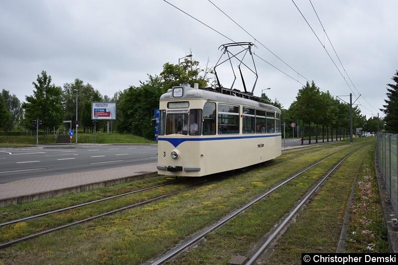 HTW 3 in Bereich Gothaer Landstraße/MDR-Kinderkanal