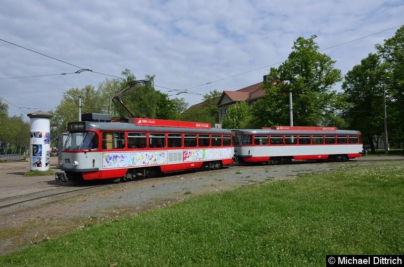 Sonderfahrt mit 1176 + 204: In der Wendeschleife Frohe Zukunft.