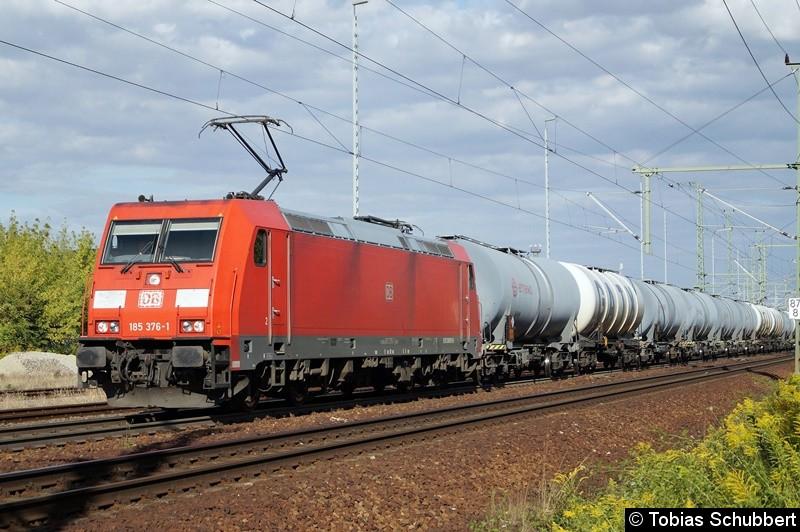 185 376-1 mit einem Güterzug bei Weimar.