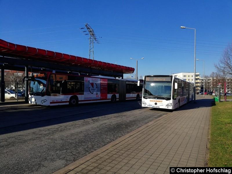 Wagen 450 als Linie 95 nach Marbach (weiter als Linie 90 zum Domplatz)