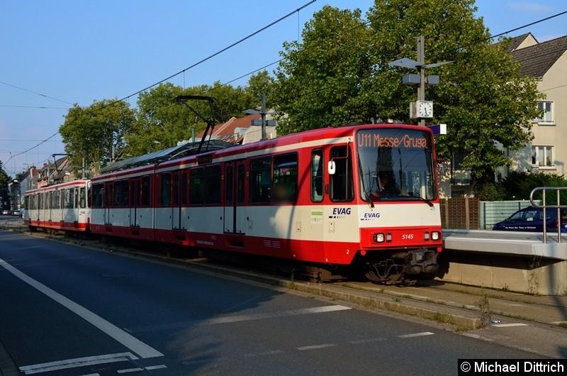 5145 + 5125 als Linie U11 an der Haltestelle Alte Landstraße.