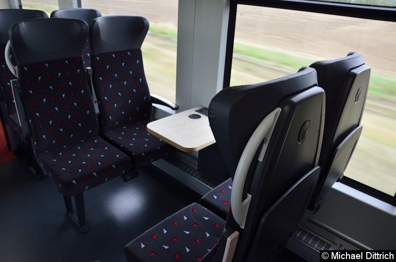 Bild: In der zweiten Klasse sind diese als zwei plus zwei Sitze ausgelegt.
