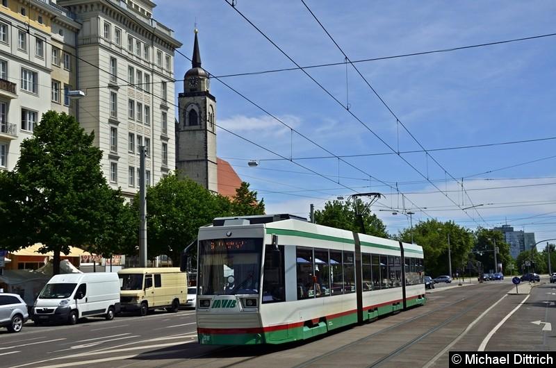 1316 erreicht als Linie 6 in Kürze die Haltestelle Alleecenter.