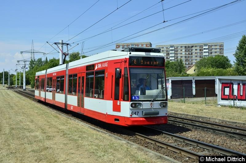 647 als Linie 16 kurz vor der Endstelle Beesen.
