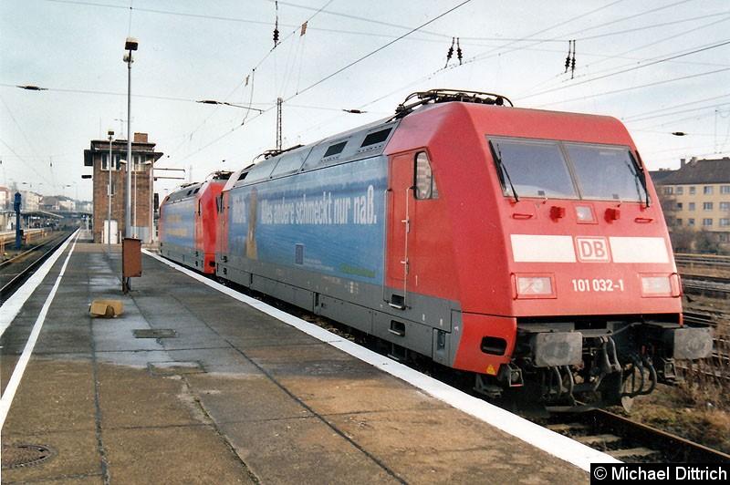Bild: 101 032 abgestellt in Berlin-Lichtenberg.