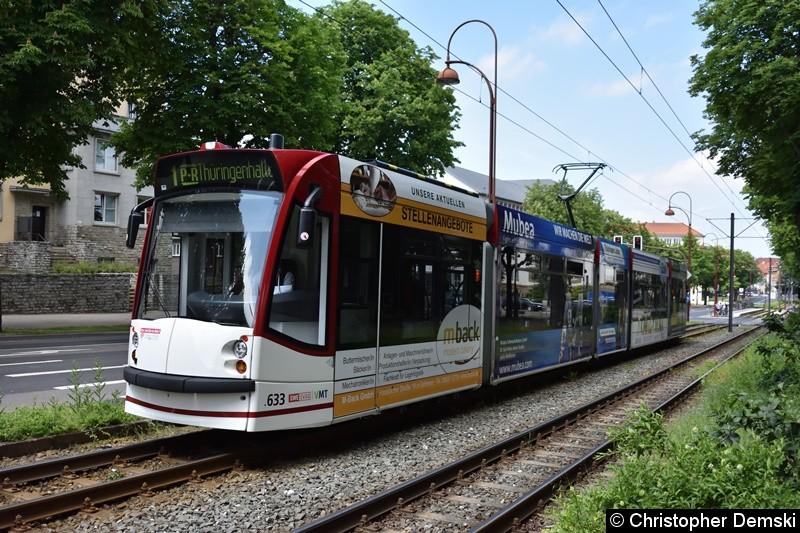 TW 633 als Linie 1 zwischen Haltestellen  Landtag/Stadion Nord und Humboldtstraße