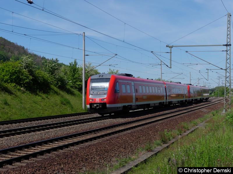 612 526+612 523 bei Seebergen in Richtung Erfurt.