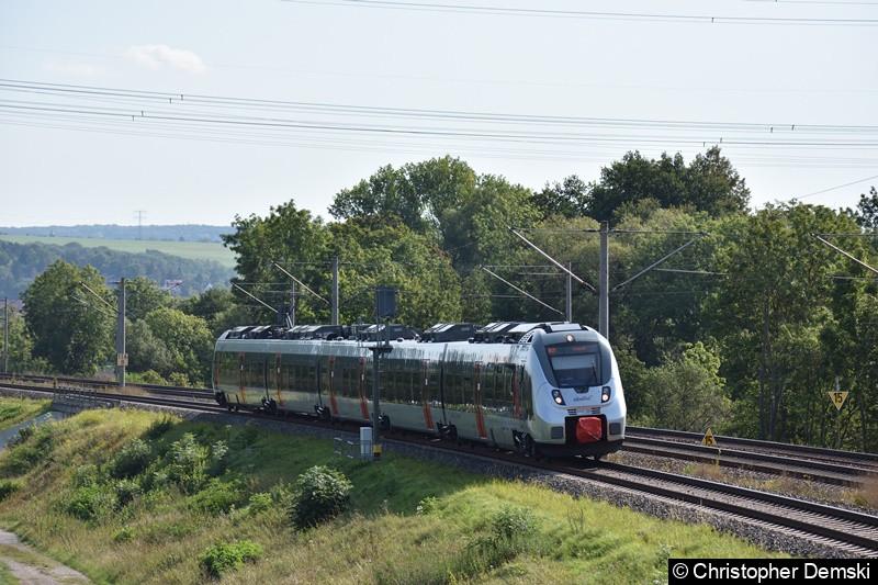 9442 308 als RB 20 nach Eisenach bei Marienthal (Erfurt)