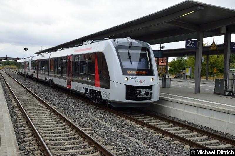 Bild: Hier der Sonderzug in Halberstadt. Beschildert als RE 18 nach Magdebugr Hbf.