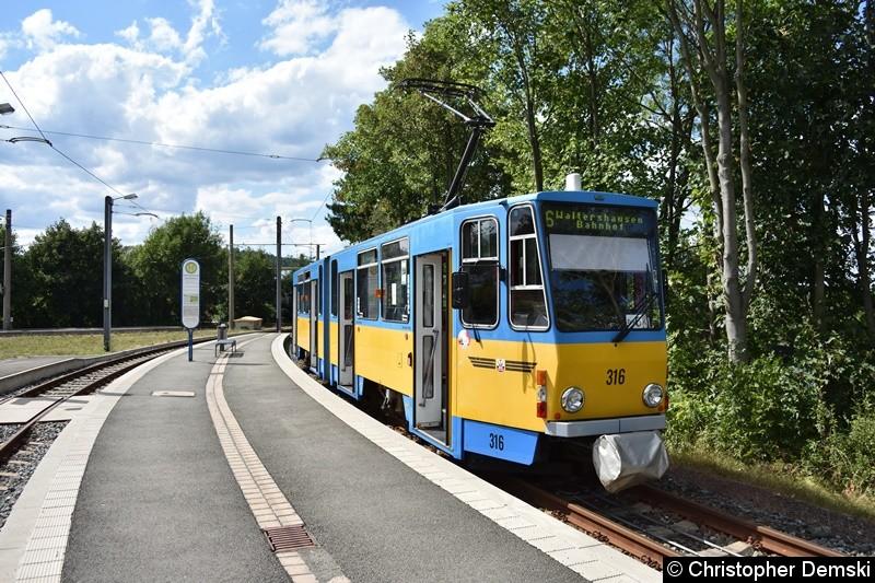 TW 316 am Gleisdreieck Waltershausen