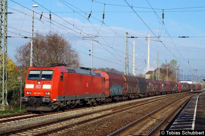 BR 185 183-1 abgestellt in Jena Göschwitz