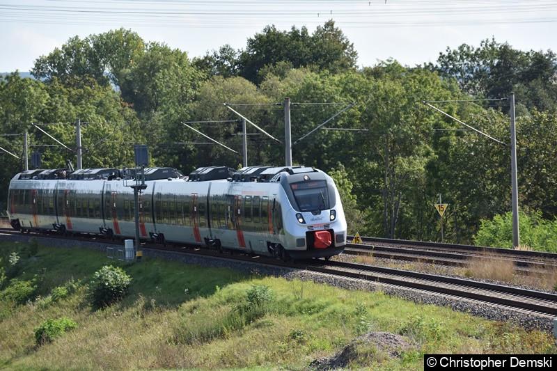 9442 304 als RB 20 nach Eisenach bei Marienthal (Erfurt)