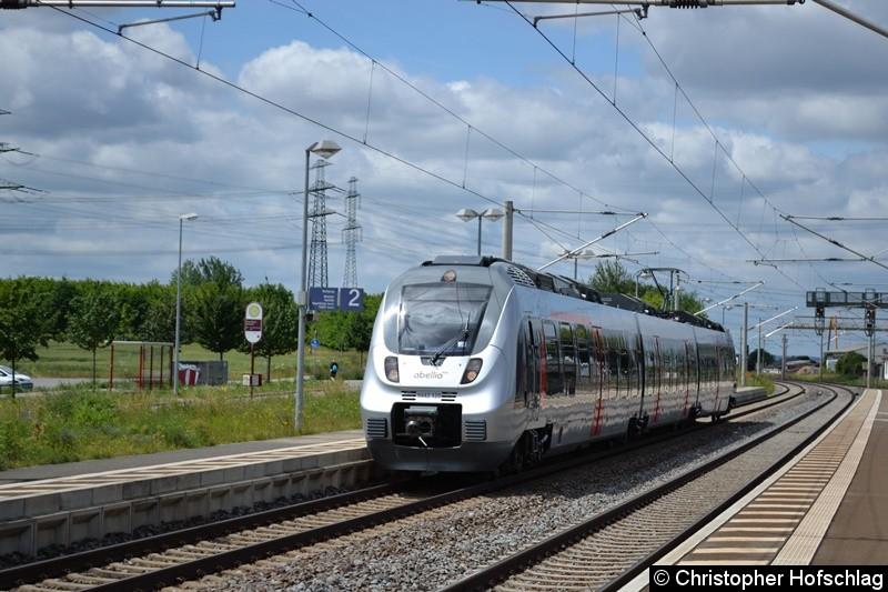 9442 620-2 bei der Einfahrt in Erfurt-Vieselbach