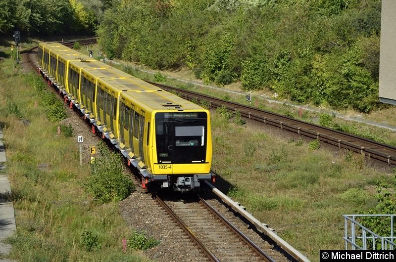 1035 + 1034 erreicht gleich den Bahnhof Kienberg.