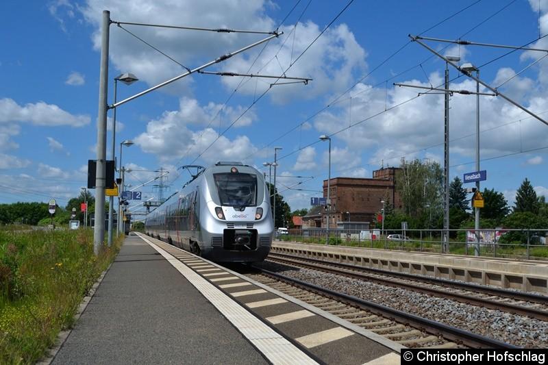 9442 801-8 bei der Durchfahrt in Erfurt- Vieselbach