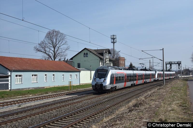 9442 113 + 9422 xxx bei der Durchfahrt bei Erfurt Vieselbach
