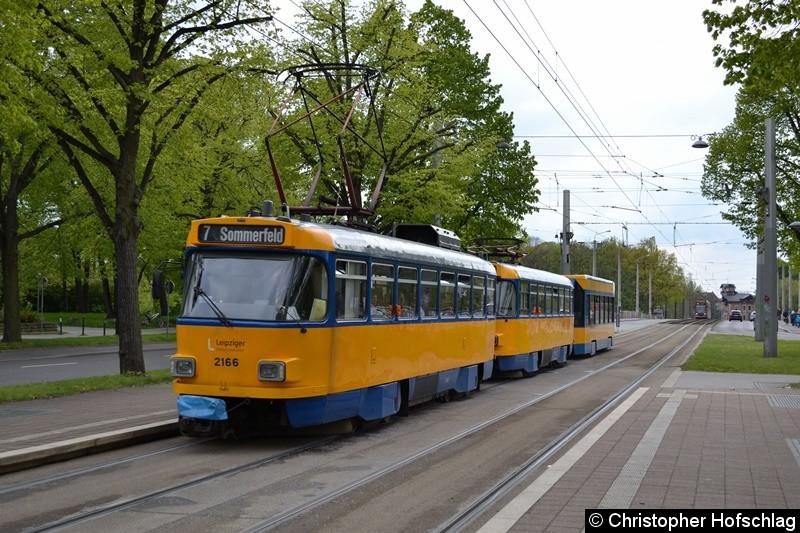 2166+2066+Bw 936 als Linie 7 am Sportforum.