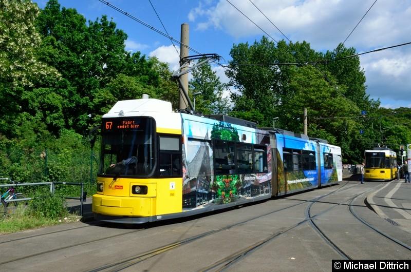 1503 als Linie 67 an der Ankunftshaltestelle S Schöneweide/Sterndamm.