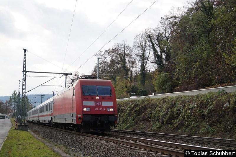 BR 101 123-8 mit IC bei Jena.
