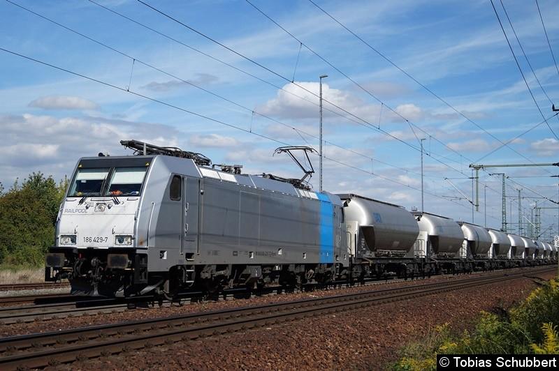 186 429-7 mit einem Güterzug bei Weimar.