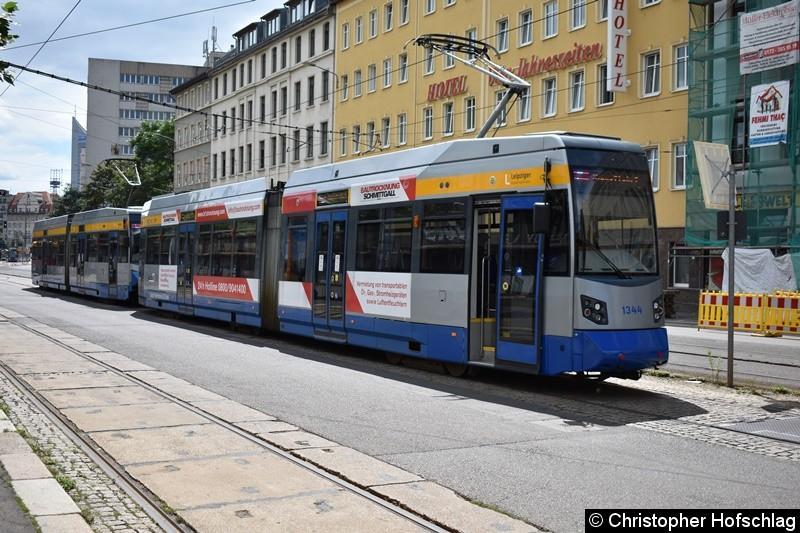 TW 1344+1325 als Dienstfahrt Westseite des Hauptbahnhofs.