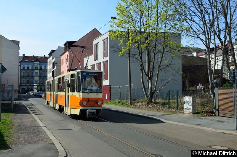 1308 auf Sonderfahrt in der Wolfener Str.
