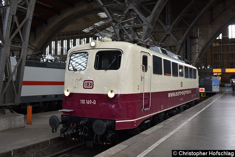 110 169-0 in Leipzig Hbf.