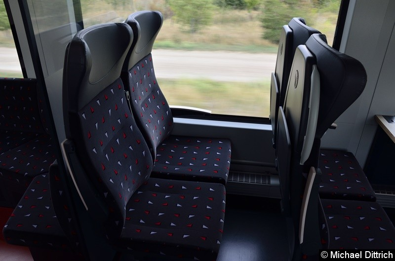 Bild: Blick auf den Doppelsitz.