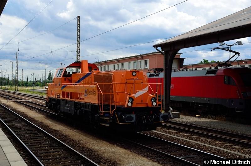 Durchfahrt der 265 302 von Northrail in Frankfurt (Oder).
