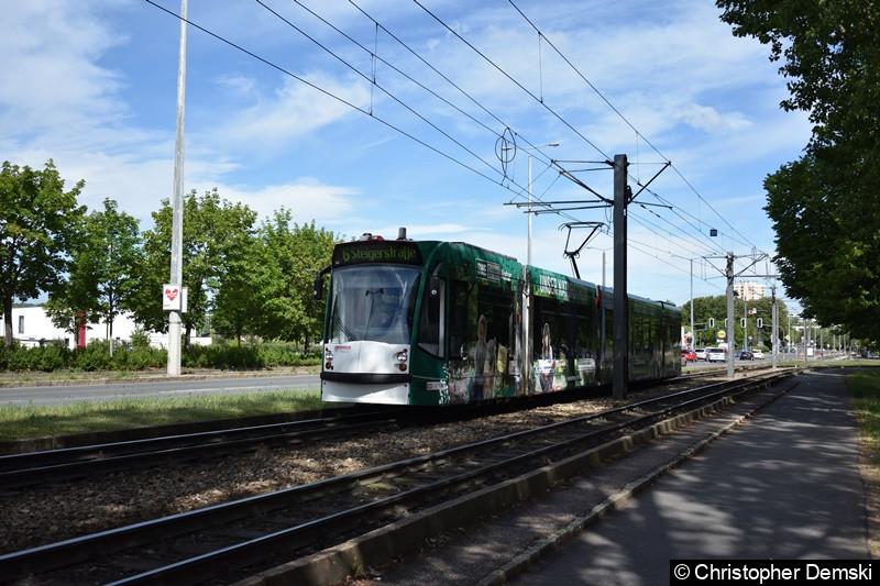 TW 656 als Linie 6 auf der Nordhäuser Straße.