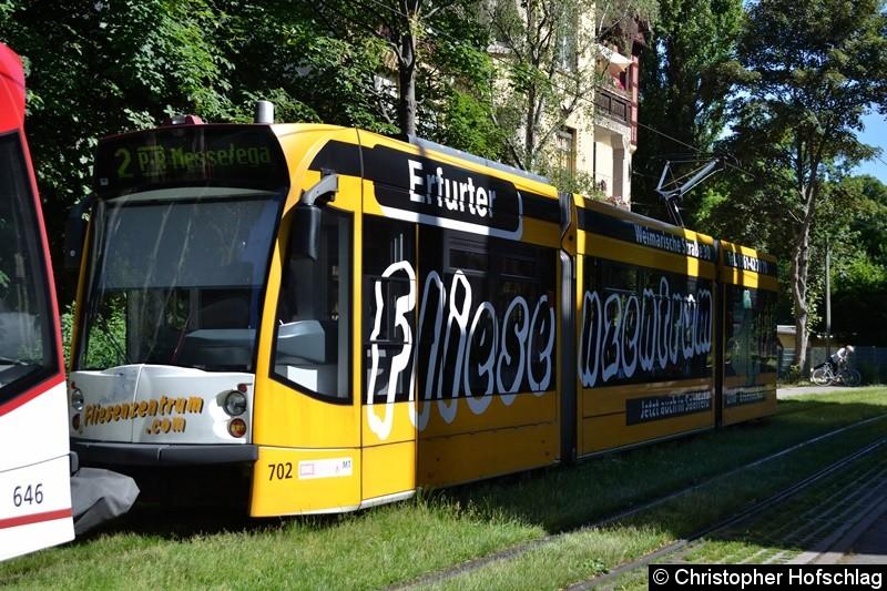 TW 702 als zweiter Wagen einer Traktion am Brühler Garten.