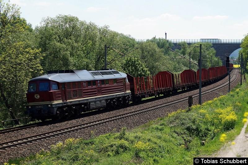 BR 132 293-2 mit einen Güterzug bei Jena
