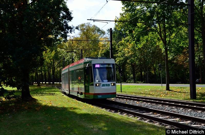 1331 als Linie 6 in der Anfahrt zur Endstelle Herrenkrug.