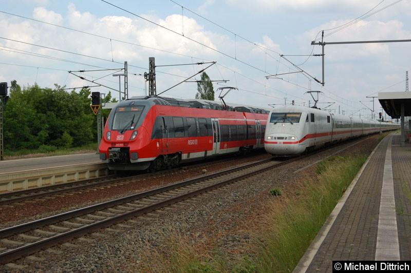 Bild: 401 567 bei der Durchfahrt in Nauen.