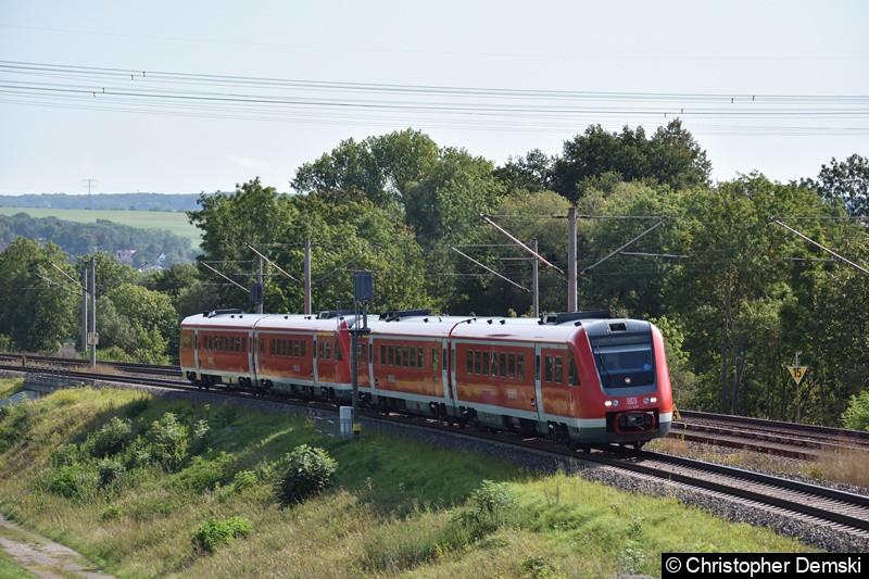 612 626+612 xxx auf den Weg nach Würzburg Hbf bei Marienthal (Erfurt)