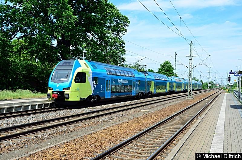 ET 603 auf dem Weg nach Leipzig in Gräfenhainichen.