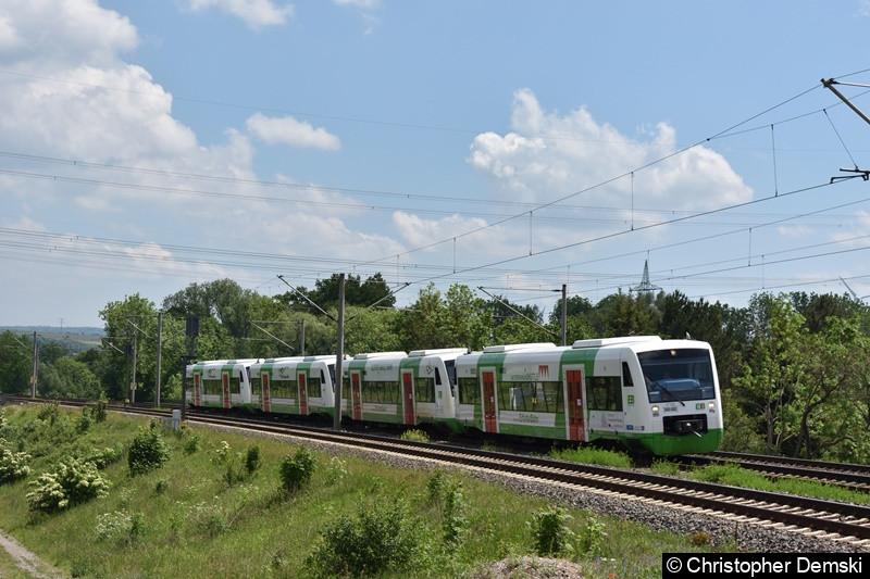 650 422 mit einen 4-gespann RS1 bei Erfurt Mariental in Richtung Neudietendorf.