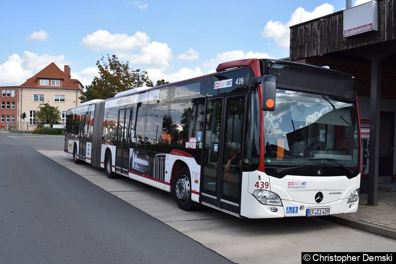 Wagen 439 am Busbahnhof Grubenstraße.