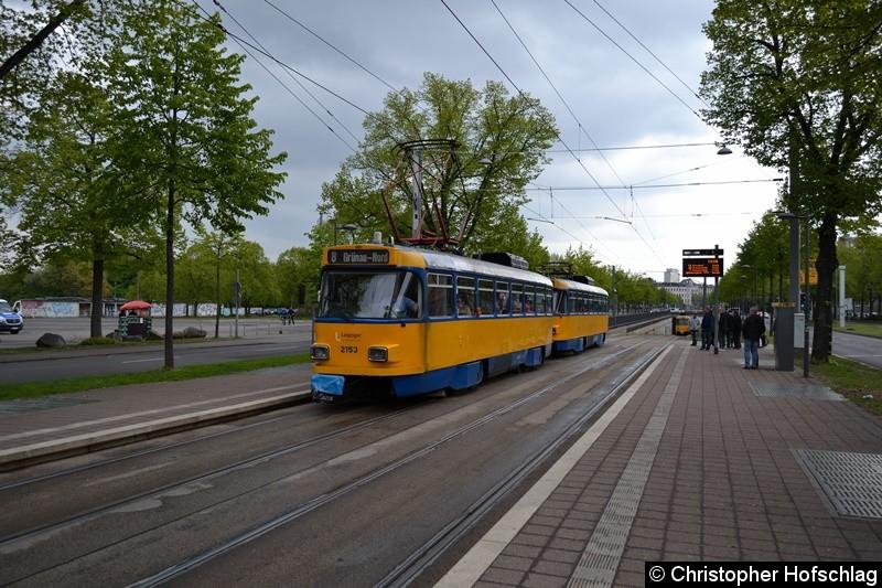 TW 2153+2132 als Linie 8 am Sportforum.