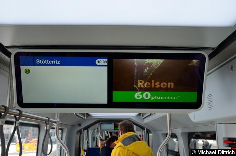 Hier der Fahrgastinformationbildschirm des NGT10