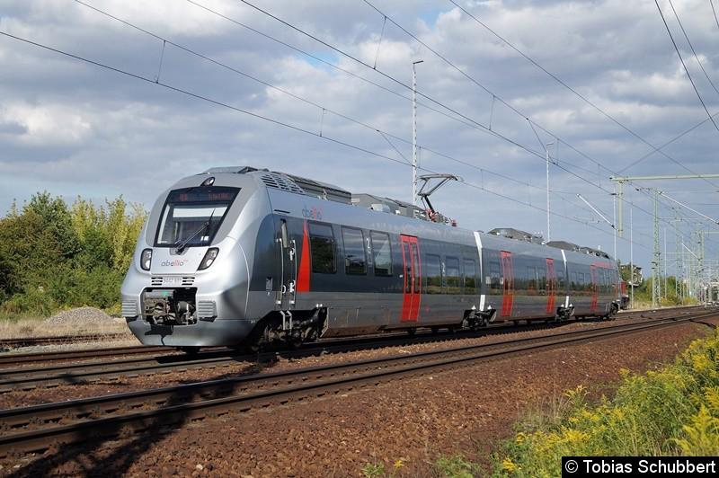 9442 601 als RE 16 bei Weimar in Richtung Erfurt Hbf.