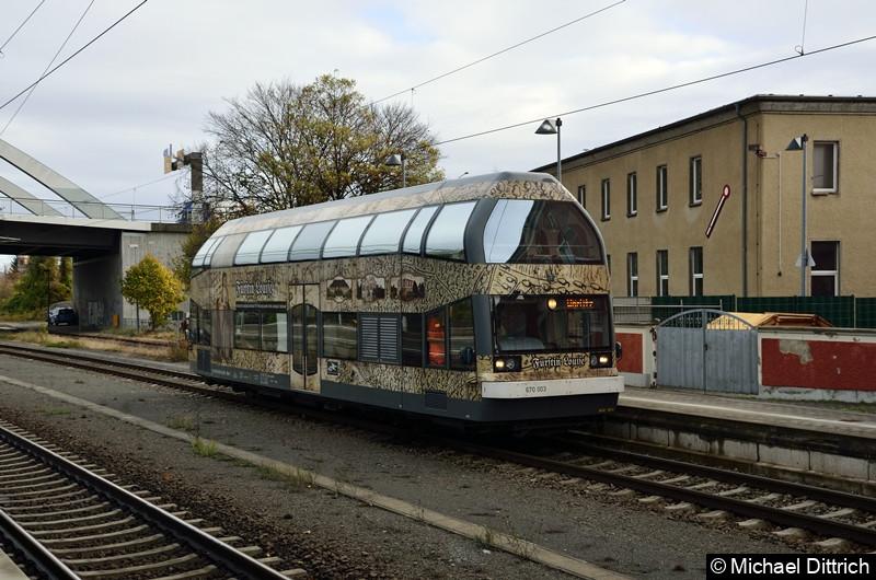 670 003 in Dessau Hauptbahnhof.
