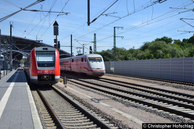 Bild: 401 575 Durchfahrt in Erfurt Hauptbahnhof.