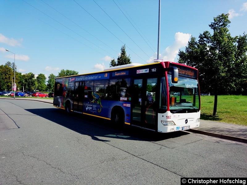 Bus 182 als Linie 10 am Europaplatz.