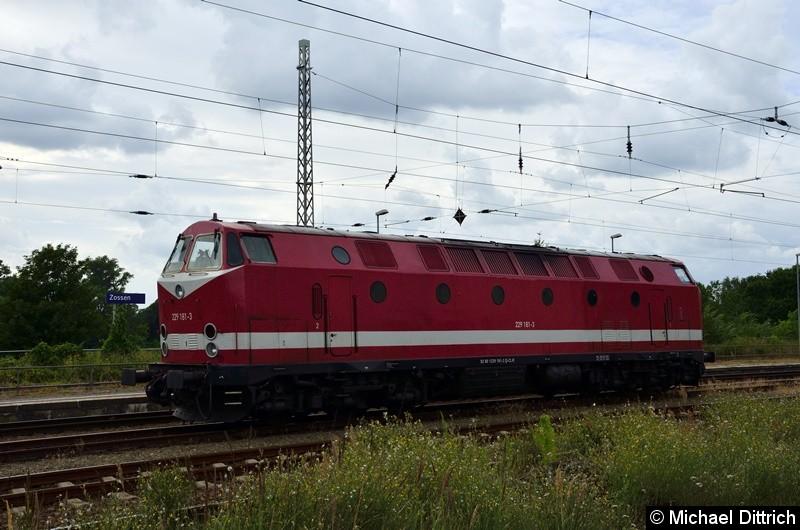 229 181 steht abgestellt im Bahnhof Zossen.