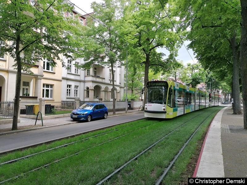 TW 653+711 als Linie 3 in Bereich Windthorststraße in Richtung Hauptbahnhof.
